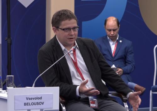 В.В. Белоусов выступил на ПМЭФ-2021